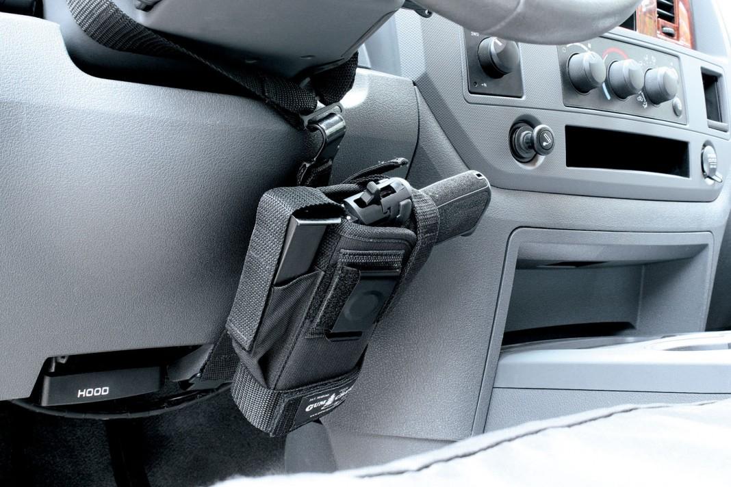 Gum Creek Universal Vehicle Handgun Mount On Target Magazine