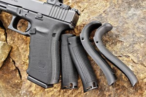Interchangeable backstraps allow a custom-tailoredfit which proves especially handy in cold climates where gloved hands are a must. Controls are typical Gen4 glock. An extended slide stop would be beneficial (especially for gloved hands) but no complaints otherwise.