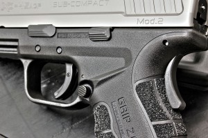 Controls are large and easy to manipulate. The GripZone treatment features stippling in strategic areas.
