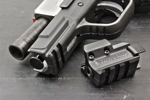 Like all of Springfield's sub-compact XD's, the Mod2 gets a rail for accessories. Shown is the new Lasermax spartan laser.