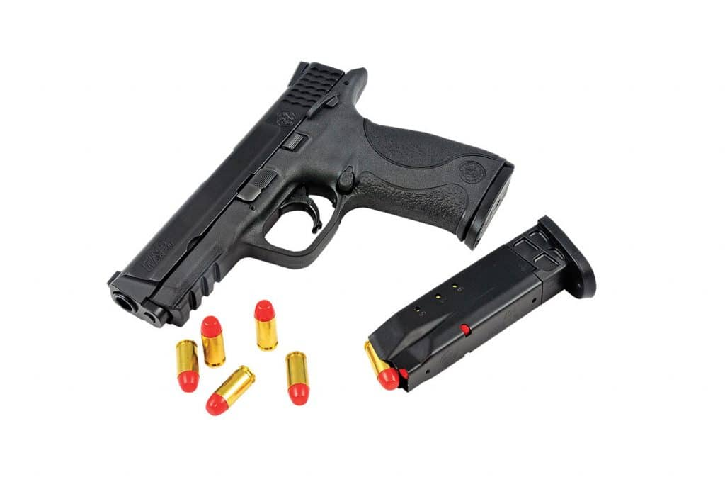 Syntech fed, fired and ejected flawlessly in a Smith & Wesson M&P 40 – with noticeably less recoil than self-defense ammo.
