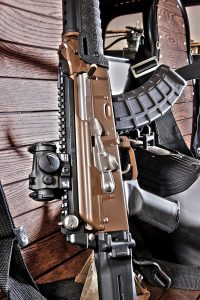 The receiver, top cover, barrel and gas tube were all treated to Robar's poly-t2 in their newest color—burnt bronze. moving components were treated to one of the most durable and self-lubricating finishes known to man—robar's np3.