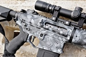 Like its 5.56mm & 300 BLK siblings The OPR-16 is equipp ed with a nickel boron coated fail zero bolt carrier group and BCM charging handle.