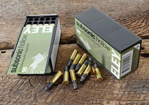 Continuing the tradition of unbeatable precision, Eley's latest small-game load—a subsonic 40-grain hollowpoint at 1,085 FPS—shoots like match ammo!