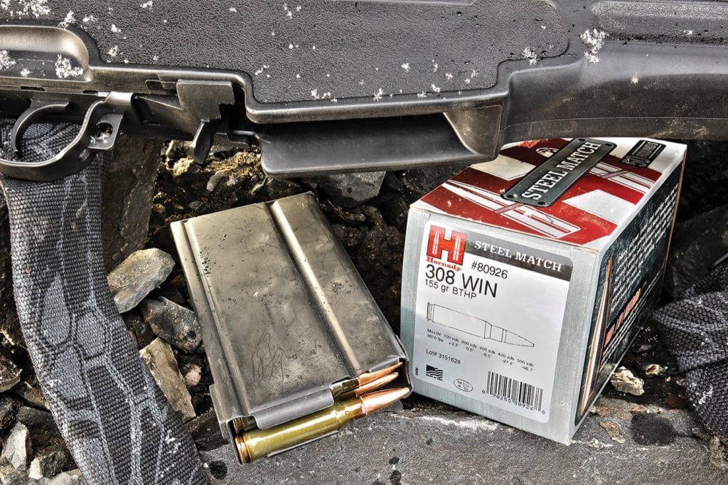 While Springfield includes one 10-round magazine with each rifle, 20-round U.S.G.I. and aftermarket magazines like the one shown are readliy available—including through Springfield itself.